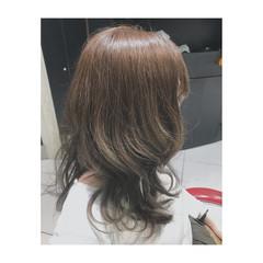 アッシュ 春 グラデーションカラー ガーリー ヘアスタイルや髪型の写真・画像