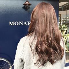 透明感 外国人風 ピンクアッシュ ロング ヘアスタイルや髪型の写真・画像