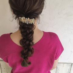 ヘアアレンジ ガーリー 女子会 ロング ヘアスタイルや髪型の写真・画像