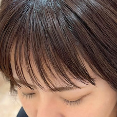 ラベンダー イルミナカラー アメジスト ナチュラル ヘアスタイルや髪型の写真・画像