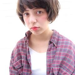 マルサラ モテ髪 愛され ショート ヘアスタイルや髪型の写真・画像