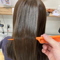 大人かわいい ミディアム 縮毛矯正 大人女子 ヘアスタイルや髪型の写真・画像