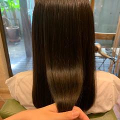 髪質改善トリートメント ナチュラル 髪質改善 ストレート ヘアスタイルや髪型の写真・画像