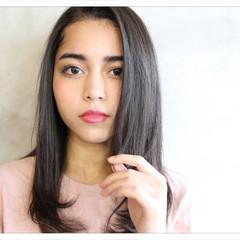 艶髪 パーマ ストレート ワンカール ヘアスタイルや髪型の写真・画像