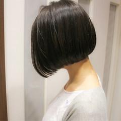 ショート 秋 ボブ 大人女子 ヘアスタイルや髪型の写真・画像