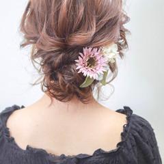 アンニュイほつれヘア エレガント 成人式 ミディアム ヘアスタイルや髪型の写真・画像