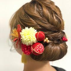 ヘアアレンジ 結婚式ヘアアレンジ ショートヘア インナーカラー ヘアスタイルや髪型の写真・画像