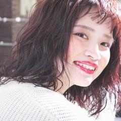 ラベンダーピンク ピンク 外国人風 アンニュイほつれヘア ヘアスタイルや髪型の写真・画像
