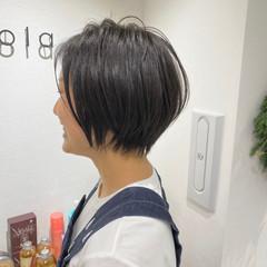 ミニボブ ショートヘア ショート 切りっぱなしボブ ヘアスタイルや髪型の写真・画像