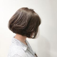 ボブ アッシュ ナチュラル 暗髪 ヘアスタイルや髪型の写真・画像