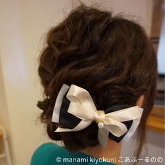 結婚式 ロング 波ウェーブ 大人かわいい ヘアスタイルや髪型の写真・画像