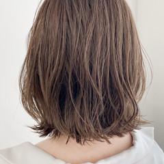 ナチュラル 透明感カラー イヤリングカラー ボブ ヘアスタイルや髪型の写真・画像