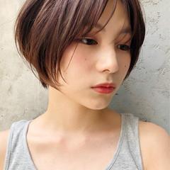 ナチュラル ショートヘア マッシュヘア アンニュイほつれヘア ヘアスタイルや髪型の写真・画像