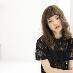 エレガント デート ミディアム 大人女子 ヘアスタイルや髪型の写真・画像