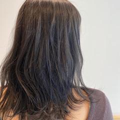 グレージュ 大人ミディアム フェミニン セミロング ヘアスタイルや髪型の写真・画像