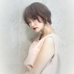 オーガニックカラー ショートボブ ショート ナチュラル ヘアスタイルや髪型の写真・画像
