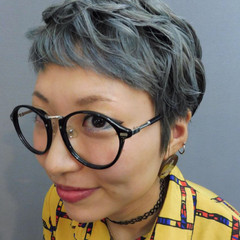 ショート ストリート グレー ベリーショート ヘアスタイルや髪型の写真・画像
