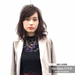 暗髪 外国人風 モード マルサラ ヘアスタイルや髪型の写真・画像