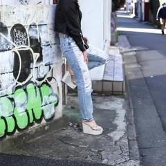 外国人風 ボブ ストリート ラフ ヘアスタイルや髪型の写真・画像