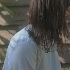 カーキ ナチュラル ミディアム 秋 ヘアスタイルや髪型の写真・画像
