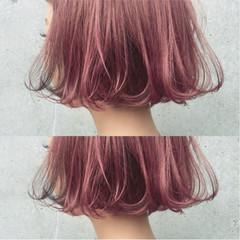 ストリート ブリーチ ボブ ダブルカラー ヘアスタイルや髪型の写真・画像