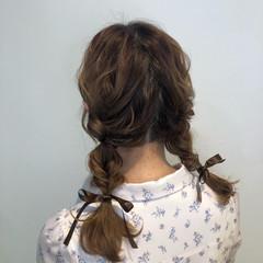 ロング 簡単ヘアアレンジ ヘアアレンジ ふわふわヘアアレンジ ヘアスタイルや髪型の写真・画像