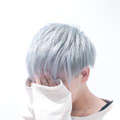 ブリーチカラー ホワイトブリーチ モード ショート ヘアスタイルや髪型の写真・画像