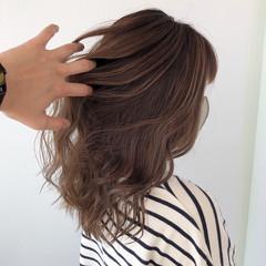 髪質改善カラー ナチュラル 髪質改善トリートメント セミロング ヘアスタイルや髪型の写真・画像