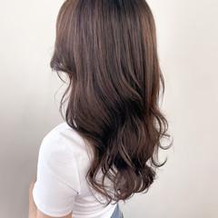 ハイライト ロング ブラウンベージュ マロン ヘアスタイルや髪型の写真・画像