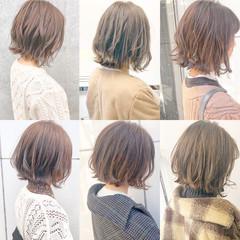 デート 大人かわいい 簡単ヘアアレンジ 切りっぱなし ヘアスタイルや髪型の写真・画像