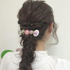 簡単ヘアアレンジ モテ髪 ロング フェミニン ヘアスタイルや髪型の写真・画像