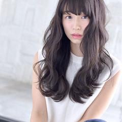 ダークアッシュ 清楚 ロング 大人女子 ヘアスタイルや髪型の写真・画像