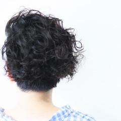 パーマ ボブ 無造作パーマ メンズパーマ ヘアスタイルや髪型の写真・画像