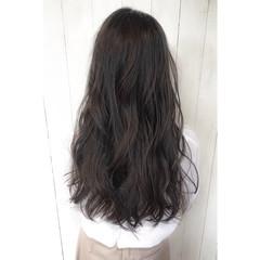 ストリート 透明感 黒髪 ロング ヘアスタイルや髪型の写真・画像