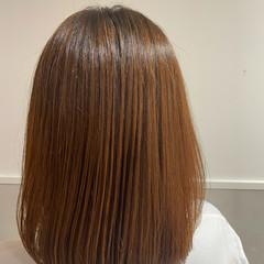 ナチュラル ハイトーン ミディアム 髪質改善 ヘアスタイルや髪型の写真・画像