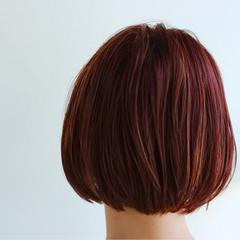 フェミニン 透明感 ボブ キュート ヘアスタイルや髪型の写真・画像