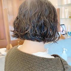 ボブ ボブアレンジ 大人可愛い インナーカラー ヘアスタイルや髪型の写真・画像