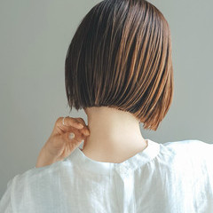 アウトドア ボブ 切りっぱなしボブ ショートボブ ヘアスタイルや髪型の写真・画像