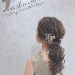 お呼ばれヘア ナチュラル 簡単ヘアアレンジ ヘアアレンジ ヘアスタイルや髪型の写真・画像