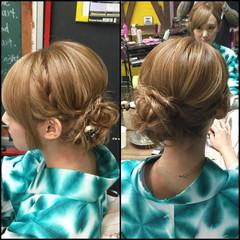 ロング アップスタイル ゆるふわ 和装 ヘアスタイルや髪型の写真・画像