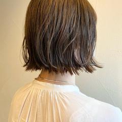 ナチュラル ゆるふわセット 外ハネボブ ボブ ヘアスタイルや髪型の写真・画像