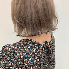 ベージュ シアーベージュ ミルクティーベージュ ボブ ヘアスタイルや髪型の写真・画像