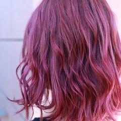 グラデーションカラー ハイトーン バレイヤージュ デート ヘアスタイルや髪型の写真・画像