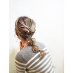 ハーフアップ ゆるふわ ショート 大人かわいい ヘアスタイルや髪型の写真・画像