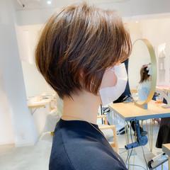 デート アンニュイほつれヘア ショート ショートヘア ヘアスタイルや髪型の写真・画像