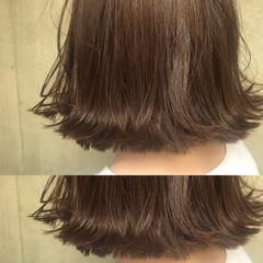リラックス パーマ ナチュラル ボブ ヘアスタイルや髪型の写真・画像