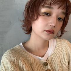 レイヤーボブ ミニボブ ナチュラル ウルフレイヤー ヘアスタイルや髪型の写真・画像