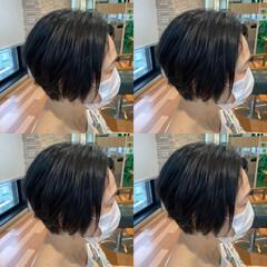 大人ショート ショートヘア ボブ ナチュラル ヘアスタイルや髪型の写真・画像
