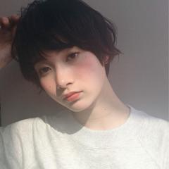ショート 小顔 ニュアンス こなれ感 ヘアスタイルや髪型の写真・画像
