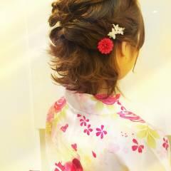 ヘアアレンジ コンサバ 編み込み 大人かわいい ヘアスタイルや髪型の写真・画像